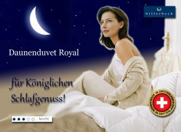 Gänsedaunen Royal Duvet - made in Switzerland - Billerbeck