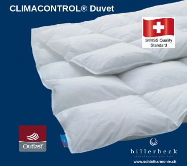 Billerbeck CLIMACONTROL- Daunenduvet Bettdecke zum aktionspreis