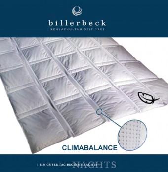 Duvet Bettdecken CLIMABALANCE SUPERLIGHT Daunenduvet  Billerbeck