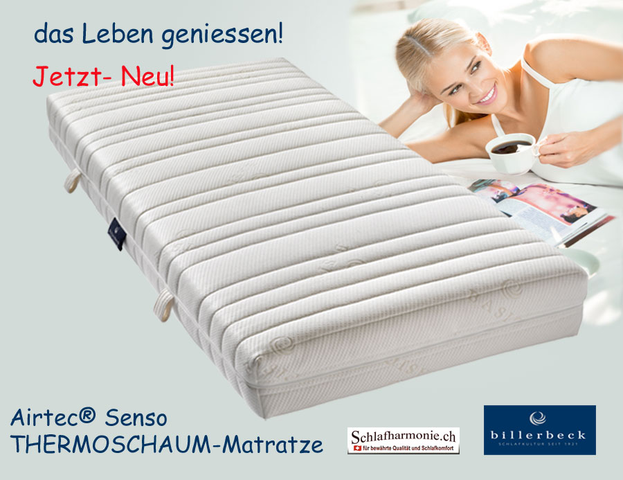 thermoschaum matratze 160x200 airtec senso exklusive heimtextilien f r guten schlaf in bester. Black Bedroom Furniture Sets. Home Design Ideas