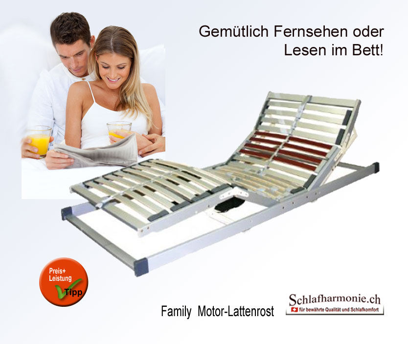 parents family motor lattenrost mit verstellbarem kopfteil. Black Bedroom Furniture Sets. Home Design Ideas