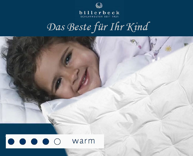 warm kinder bettdecke daunen duvet carmen puntina von billerbeck heimtextilien. Black Bedroom Furniture Sets. Home Design Ideas