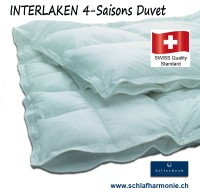 INTERLAKEN 4-Saison Daunenduvet Bettdecke swiss made online Aktion kaufen