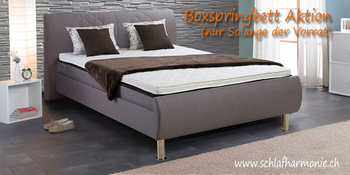 aktion boxspringbett zu spitzenpreis boxspringbetten bett. Black Bedroom Furniture Sets. Home Design Ideas